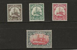 German Colony Samoa Mi 20-23 IIb M. Hinged ( Mi 20 & 21= MNH)  wz. 1  412711