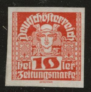 Austria Scott P35 MH* Newspaper stamp
