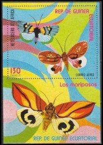 1976 Guinea Equatorial 1023/B254 Butterflies 6,00 €