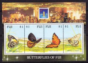 FIJI 1994 BUTTERFLIES M/S MNH
