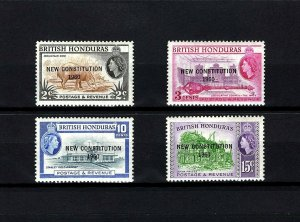 BRITISH HONDURAS - 1961 - QE II - NEW CONSTITUTION - ARMS - OVPT - MINT MNH SET!