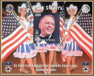 Guinea 1998 Frank Sinatra/Rotary & Lions S/S Imperf.MNH 129