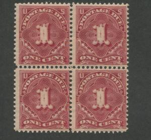 1895 US Postage Due Stamp #J38 Mint Never Hinged Fine Block of 4