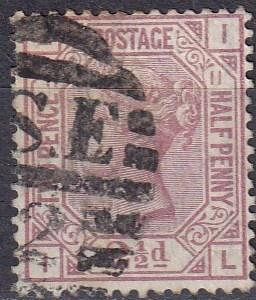 Great Britain #67 Plate 11 F-VF Used CV $60.00 Z38