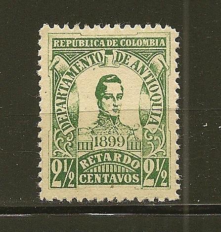 Antioquia I1 Late Fee Stamp Mint No Gum