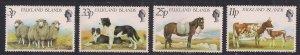 Falkland Island 1981 QE2 Set Farm Animals  Umm SG 392-395 ( F1406 )