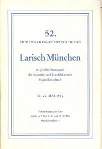 Larish: Sale # 52  -  52. Briefmarken-Versteigerung, A. L...