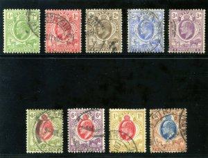 Orange Free State 1903 KEVII set complete very fine used. SG 139-147. Sc 61-69.