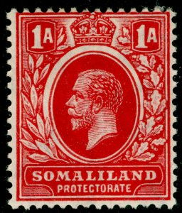 SOMALILAND PROTECTORATE SG74, 1a carmine-red, LH MINT. WMK SCRIPT