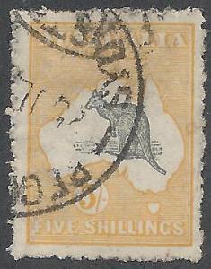 AUSTRALIA 1915 KANGAROO 5/- 2ND WMK