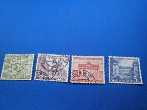 GERMANY - BERLIN  -  SCOTT # 9N57-9N60   -  USED     (wr)