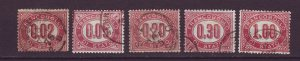 J24747 JLstamps 1875 italy used #o1-5 officials