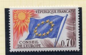 France 1963 Council of Europe Stamp Issue Fine Mint Hinged 70c. 229051