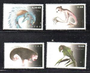 Faroe Islands Sc 584-7 2012 Monsters stamp set mint NH