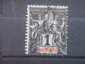 MARTINIQUE, 1892, used 1c, MARTINIQUE. Scott 33