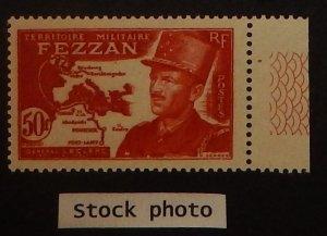 Fezzan 2N11. 1949 50Fr Copper red, Leclerc, NH