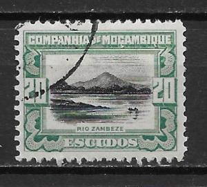 Mozambique Company 161 20e Zambezi River single Used