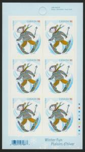 Canada 2294a Booklet MNH Christmas, Skiing