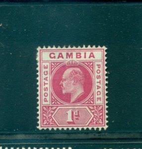 Gambia - Sc# 29. 1902 1p Mint. $15.00.