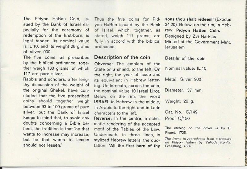 ISRAEL 1/21/1970 20th ANN