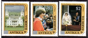 ANTIGUA & BARBUDA 798, 800, 804 MNH SCV $9.00 BIN $5.40 ROYALTY