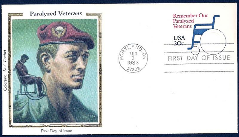 UNITED STATES FDC 20¢ Paralyzed Veterans 1983 Colorano