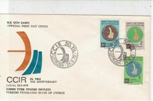 Turkish Federated Cyprus 1979 50th Anniversary of CCIR FDC Stamps Cover Ref23586
