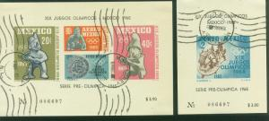 MEXICO C310a-C311a,1st Pre-Olympic Issue-1965 Souvenir  USED (234)
