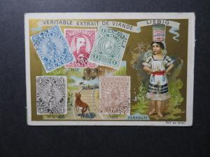 Paraguay Stamps on Liebig Advert Card Circa 1900 - Z12561