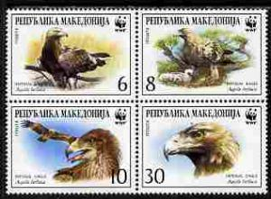 Macedonia 2001 WWF - Imperial Eagle perf set of 4 in se-t...