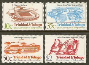 Trinidad & Tobago #374-7 NH Independence Anniv.