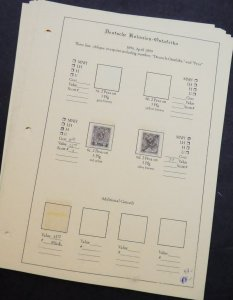 EDW1949SELL : GERMAN EAST AFRICA Mint & Used collection on pages. Scott Cat $619