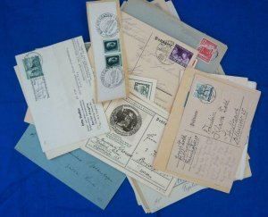 1935-1944, 51 German, 3rd Reich Covers, Couple Mint Postcards (S17258)