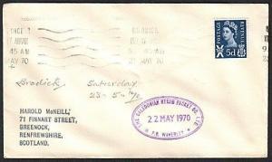 GB SCOTLAND 1972 Cover Clyde Steamer cachet P.S. WAVERLEY..................13896