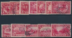 #Q1-Q12 F-VF USED COMPLETE SET WITH LIGHT CANCELS CV $208 BS4486