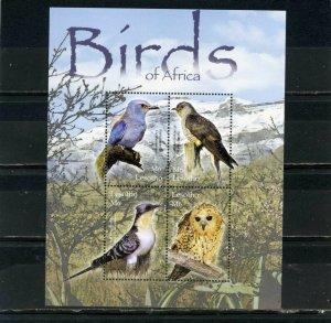 LESOTHO 2004 BIRDS SHEET OF 4 STAMPS MNH