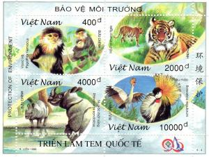 Viet Nam 1996 Sc#2731 Wild Animals-Birds-Tigers Protection of Environment SS MNH