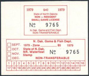 US North Dakota Scott #26/A5 Mint, VF+, NH