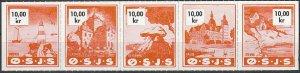 Stamp Denmark Railway Lighthouse Railroad Rodvig Sailboat OSJS Castle 10K MNH