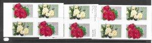 Norway 1353a Flowers MNH bklt. pain x 3, vf. 2022 CV $ 24.00