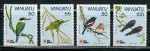 VANUATU  BIRDS SCOTT #542/45  MINT NEVER HINGED SCOTT VALUE $6.65