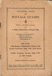 Lyons: Sale # 4  -  Auction Sale of Postage Stamps - 4 - ...