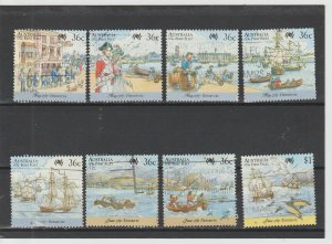 Australia  Scott#  1024a-e, 1025a-b, 1026  Used  (1987 Australian Bicentennial)