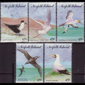 NORFOLK IS. 1994 - Scott# 565a-e Seabirds Set of 5 NH