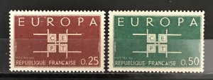 France 1963 #1074-5, MNH, CV $.60