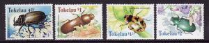 Tokelau-Sc#255-58-unused NH set-Beetles-Insects-1998-