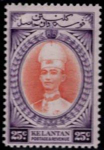 MALAYA Kelantan Scott 37 MH* Sultan Ismail stamp