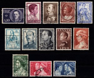 Greece 1956 Royal Family, Part Set (excl. 7d.50) [Used]