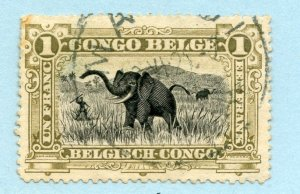 Congo (Belgian), Scott #55, Used