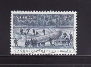 Norway 927 U Pontoon Bridge Under Construction (C)